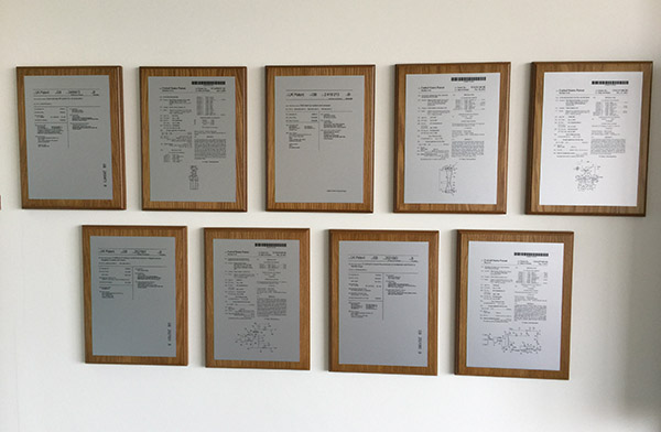 Caltec Display Some of their Many Patents