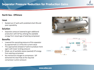 Lowering Separator Pressure for Production Gains