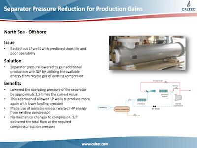 Lowering Separator Pressure for Production Gains